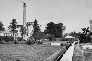 Im Hintergrund das alte Kesselhaus