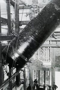 Kesselinstallierung im Erweiterungsbau des Fernheizwerkes Nord