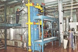 Hochdruckstrahlungskessel im Fernheizkraftwerk Süd